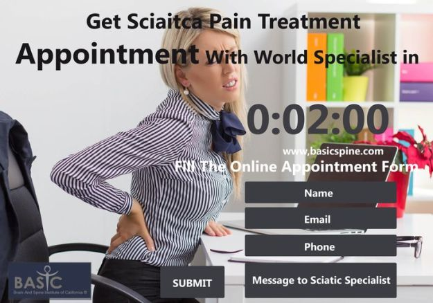 Woman sitting at her desk with sciatica lower back pain